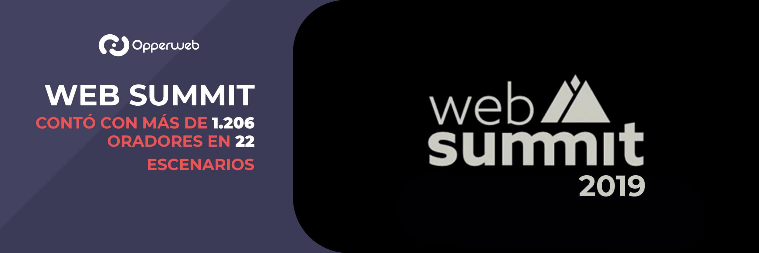 El Web Summit contó con más de 1.206 oradores en 22 escenarios