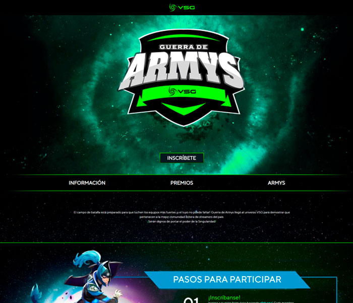 VSG Latam – Guerra de ARMYS – Landing