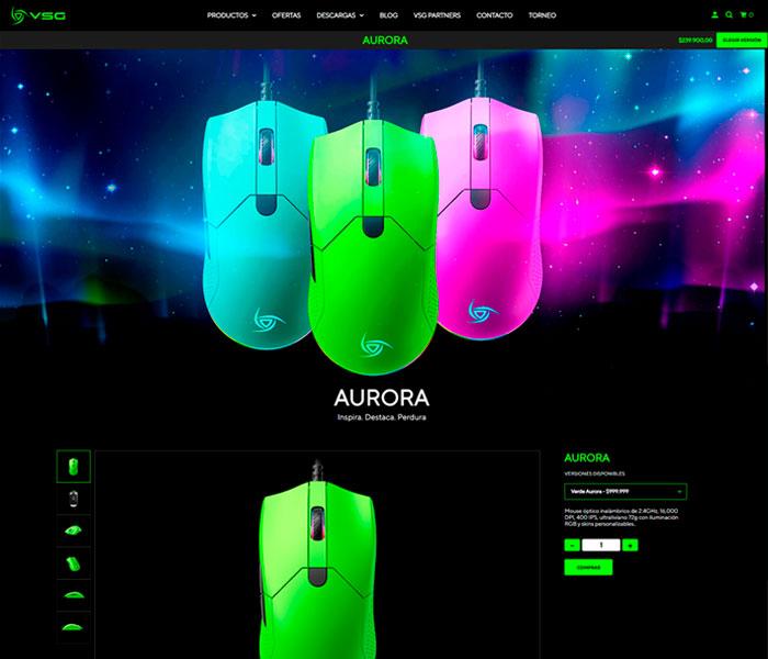 VSGLatam – Aurora – Product Page
